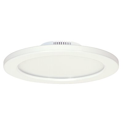 1-Light LED Flush Mount Finish: White