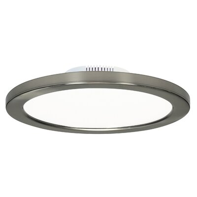 Rudnick 1-Light LED Flush Mount Finish: Brushed Nickel