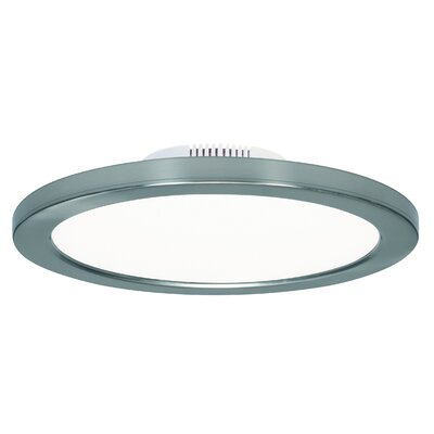 Rudnick 1-Light LED Flush Mount Finish: Polished Nickel