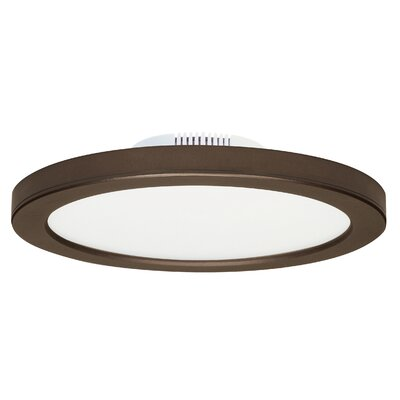 Rudnick 1-Light LED Flush Mount Finish: Bronze