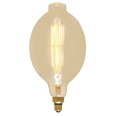 Amber 60W E26/Medium (Standard) Incandescent Vintage Filament Light Bulb