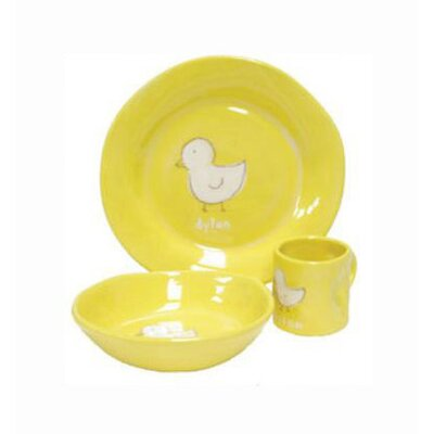 Three Piece Dish Set Design: Yellow Duck