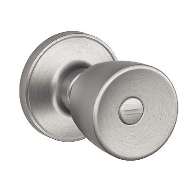 Schlage J Series Byron Privacy Door Knob - Finish: Satin Stainless Steel