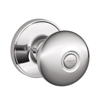 Schlage J Series Stratus Privacy Door Knob - Finish: Bright Chrome