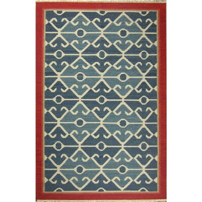 Kilim Blue Rug Rug Size: 4' x 6'