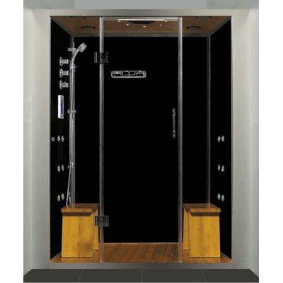"Steam Planet Royal Care Pivot Door Steam Sauna Shower - Base Finish: No Base, Size: 59"" L x 40"" W at Sears.com"