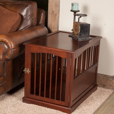 Pet Crate End Table in Walnut Size: Large (27.3