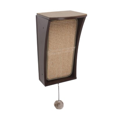 Catchall Wall Mounted Cat Scratching Post Color: Espresso