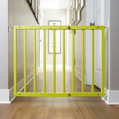 Safety Mate Expandable Pet Gate Finish: Neon Lime