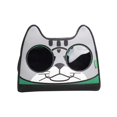 Catysmile Backpack Cat Carrier Color: Green/Gray