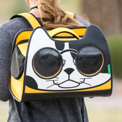 Catysmile Backpack Cat Carrier Color: Yellow/White