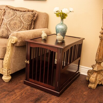 Pet Crate End Table in Walnut Size: Medium (24 H x 21 W x 30 L)