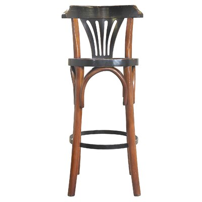 De Luxe Grand Hotel 28.75 Bar Stool Finish: Honey