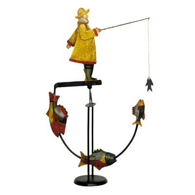 Fisherman Balance Toy Figurine