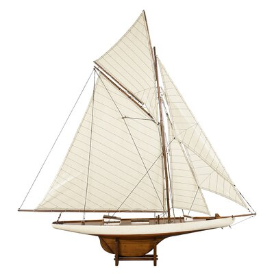 "AS076F America's Cup Columbia 1901  Med. French Finish 7.1"""" with Basswood & Cotton Material  in Ivory/ Honey Distressed French"" 767904"