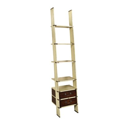 Campaign 96'' Leaning Bookcase