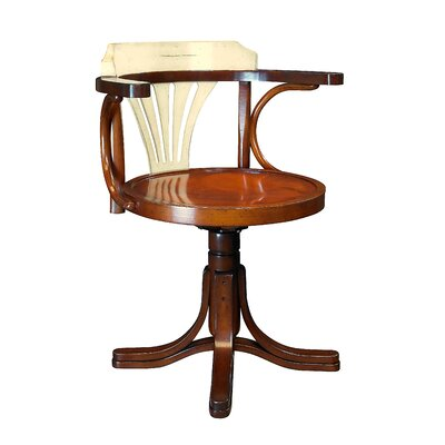 Low-Back Purser's Office Chair Finish: Ivory with Distressed Honey Product Picture 197