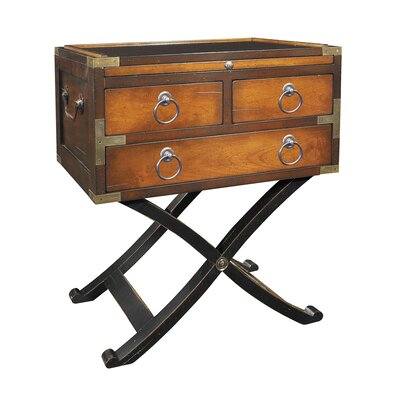 Bombay Box End Table Color: Distressed Honey