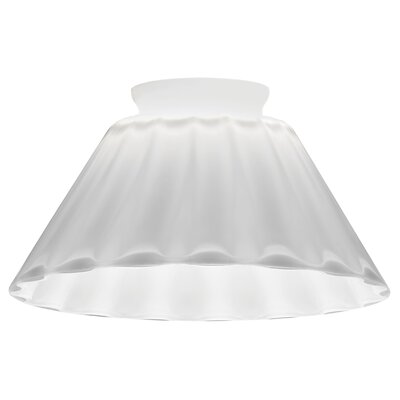 5.58 Glass Empire Pendant Shade Color: White Mellon