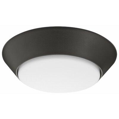 Versi LED Flush Mount Bulb Color Temperature: 3000K, Finish: Bronze