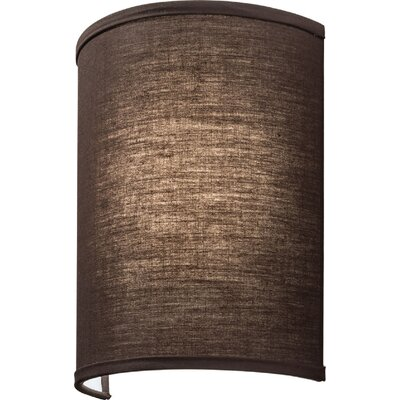 Aberdale LED Wall Sconce Shade Color: Brown