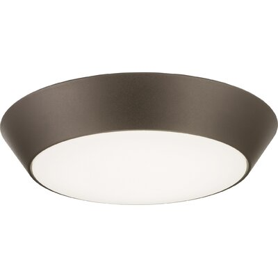 Versi 1-Light LED Flush Mount Finish: Textured Bronze