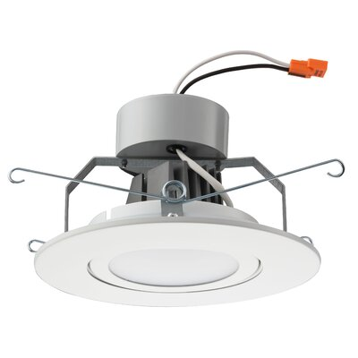 Gimbal Module LED Recessed Retrofit Downlight Finish: Matte White