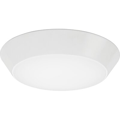 Versi 1-Light LED Flush Mount Finish: Gloss White