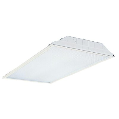 GT 4-Light Fluorescent Pre Wired Lensed Troffer Semi Flush Mount