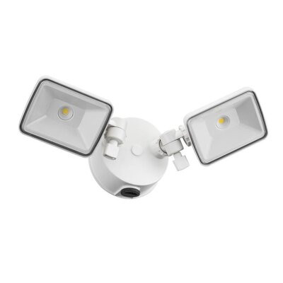 OLF 2 Head Outdoor Square LED Flood Light Finish: White
