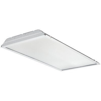 GTL 1-Light Contractor Lensed Troffer LED Semi Flush Mount