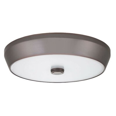 Deep Pan Flush Mount Bulb Color Temperature: 3000K, Finish: Bronze