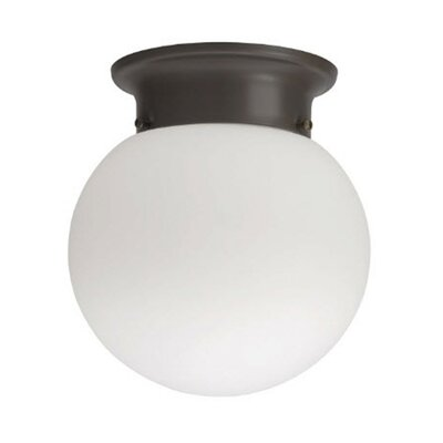 Globe 1-Light LED Flush Mount Finish: Bronze, Bulb Color Temperature: 4000K