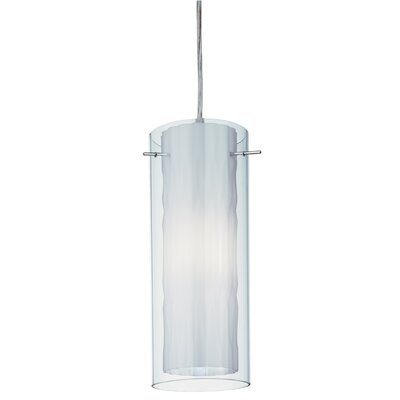 Zentro 1-Light Mini Pendant Finish: Chrome with Milk White Glass