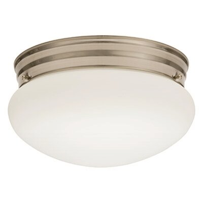 Mushroom 1-Light LED Flush Mount Finish: Brushed Nickel, Bulb Color Temperature: 4000K