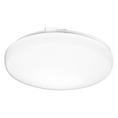 1-Light Flush Mount Size: 2.88 H x 14 W x 14 D, Bulb Color Temperature: 3000K Bright White