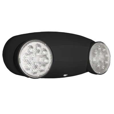Quantum 2-Light Emergency Light Color: Black