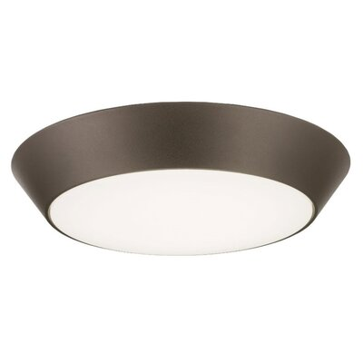 Versi LED Flush Mount Finish: Bronze, Bulb Color Temperature: 4000K