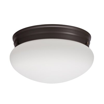 Mushroom 1-Light LED Flush Mount Finish: Bronze, Bulb Color Temperature: 4000K