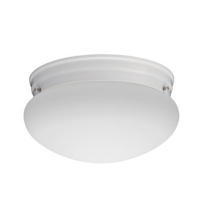 Mushroom 1-Light LED Flush Mount Finish: White, Bulb Color Temperature: 4000K