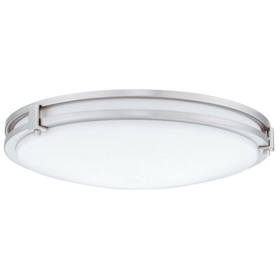 Saturn 1-Light Flush Mount Finish: Antique Brushed Nickel, Bulb Color Temperature: 3000K