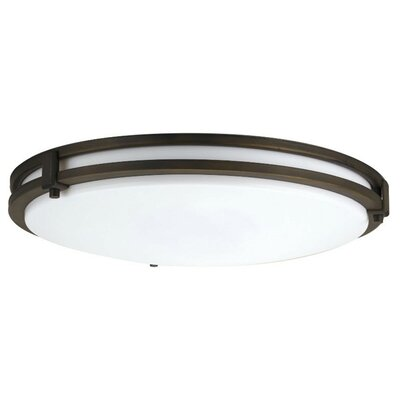 Saturn 1-Light Flush Mount Finish: Antique Bronze, Bulb Color Temperature: 4000K