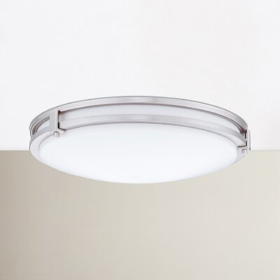 Saturn Flush Mount Finish: Brushed Nickel, Bulb Color Temperature: 4000K