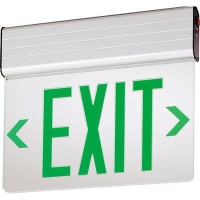 Stencil Edge Lit LED Exit Light