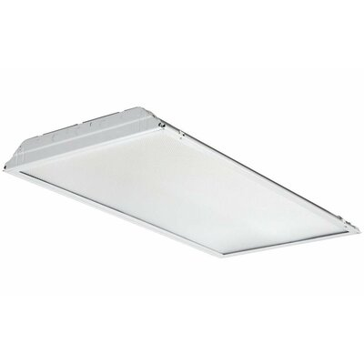 GTL Lay-In Troffer LED Semi Flush Mount with Prismatic Lens and Battery Pack