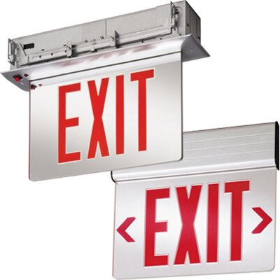 Stencil Edge Lit LED Exit Light Finish: Red