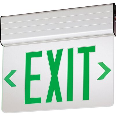 Stencil Edge Lit LED Exit Light Finish: Green