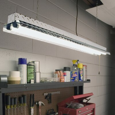 Diamond Plate 2-Light Fluorescent Ceiling High Bay