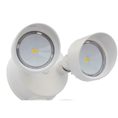 OLF 2 Head Outdoor Round LED Flood Light Finish: White
