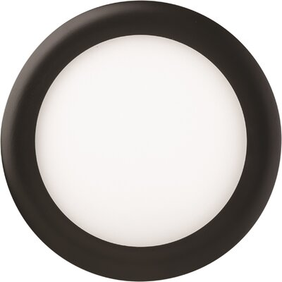 6 LED Recessed Trim Trim Finish: Matte Black